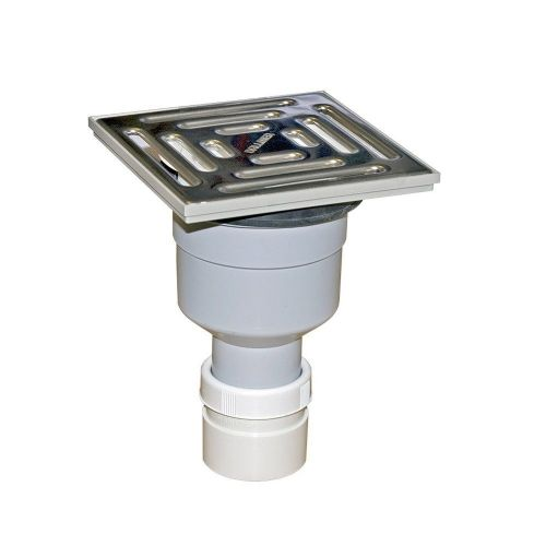 Mcalpine 75mm Water Seal Gully, Vertical Outlet For Tiled or Stone Floors